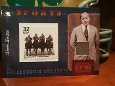 Knute Rockne Notre Dame Football Worn Used Swatch Card Four Horsemen Stamp