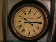 """HUGE 30"""" BROWN BRONZE ANTIQUE FINISH WALL CLOCK GORGEOUS"""