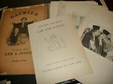 #831 vtg LOT 16 lithograph PRINTS HONORE DAUMIER LAW & JUSTICE Pantheon Books