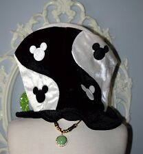Black White Ying Yang Mickey DISNEYLAND Top Hat ADULT one size NWT Steampunk