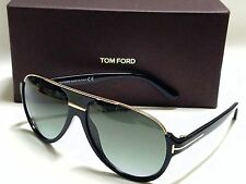 Authentic TOM FORD DIMITRY FT0334 01P Black Gold/Green Gradient Sunglasses