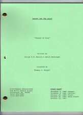 "BEAUTY AND THE BEAST show script ""Shades of Grey"""