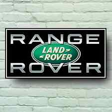 LANDROVER WITH RANGE ROVER LOGO 2FT GARAGE SIGN WALL PLAQUE SPORT VOGUE EVOQUE