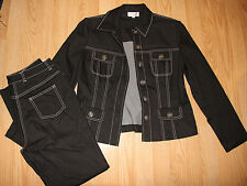 St John Sport 2pc Casual Set  Jacket and Jean pants, S & 4