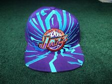MITCHELL & NESS PURPLE AND TEAL UTAH JAZZ NBA SNAPBACK SNAP BACK CAP - HAT