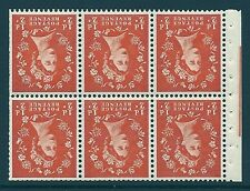 SB14a Wilding booklet pane Graphite perf type Ie UNMOUNTED MNT/MNH