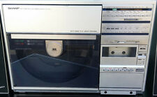 SHARP VZ3510E VERTICAL LINEAR TURNTABLE + SPEAKERS SERVICED NEW CARTS & BELTS
