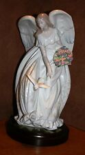 Signed BEAUTIFUL Lladro 1867 Flowers of Peace - ANGEL, Ltd Edt Retired 2004