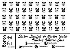 Darth Vader & Stormtrooper Mickey Ears Waterslide Nail Decal - 50 PC - BNA-20010