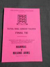 MAMMAS vs MASONS ARMS - ROYAL MAIL SUNDAY TROPHY FINAL TIE - 8 APRIL 1993