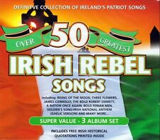 OVER 50 GREATEST IRISH REBEL SONGS - VARIOUS ARTISTS (NEW SEALED 3CD BOX SET)