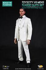"""TOYS CITY Mens Tuxedo Suits Set White Color 1/6 Fit for 12"""" action figure"""