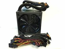 875W ATX Modular Power Supply Dual 12V Rail 12cm Silent Fan Gaming for Intel AMD