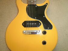 Antoria chitarra New Yorker Les Paul Junior Giallo Con Heavy Duty Borsa carrry