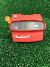 Vintage 3D VIEW-MASTER Viewer, Red with Orange Handle, Made in USA