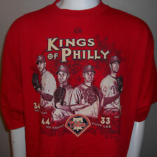 Kings Of Philly T-Shirt XXL Halladay Oswalt Lee Hamels Philadelphia Phillies