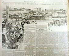 BEST 1896 display newspaper PRINCETON defeats Yale -R COLLEGE FOOTBALL CHAMPIONS
