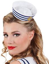 Mini Matrosenmütze auf Haarreif NEU - Karneval Fasching Hut Mütze Kopfbedeckung