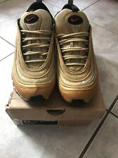"NIKE AIR MAX 97 METALLIC GOLD-RED-BLACK SZ 8.5 ""OLYMPIC RARE!!! [312641-700]"