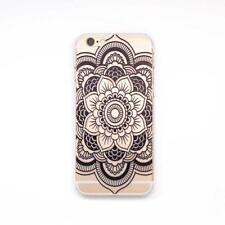 Elegant Mandala Henna Pulire Caso Silicone Cover for Iphone 6/6s 4.7 inch