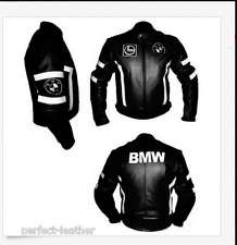 Men's BMW Motorcycle Racing Biker 100%Cowhide Leather Jacket ALL SIZES.