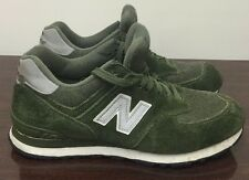 Olive Green Suede 574 NB New Balance Running Shoes Sneakers Men's Sz 10
