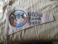 WWII USAAF 8 TH AAF DISNEY PEGLEG  PETE 603 RD BOMB SQUADRON  FLAG PENNENT