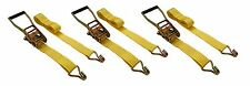 """3 Pc 2"""" inch x 27' Ft Ratchet Tie Down Cargo Straps 5000 Lbs J Hooks 2 pack"""