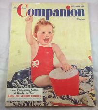 Baby at the Beach September 1940 Womans's Home Companion  Magazine