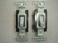 Lot of 2 Pass & Seymour Gray COMMERCIAL Toggle Switches 3-Way 20A CS20AC3-GRY