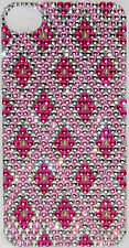 Iphone 4 4S Pink Diamond Bling Crystal Rhinestone/Pearl Decal Sticker Vinyl Skin