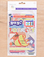 Becky Higgins Project Life FOREVER YOUNG (42) CHIPBOARD STICKERS scrapbooking