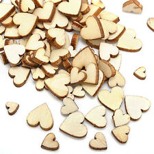 Wedding 100pcs Wood Wooden Love Heart Rustic Table Scatter Decoration Crafts DIY