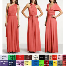 Custom Bridesmaid Evening Jeresy Convertible Multi Way Wrap Twist Dress XS-3XL