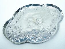Silver Tray, Sterling, Antique, William Comyns, Reynolds Angels, Cherubs HM 1902