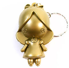 Disney ALICE IN WONDERLAND 3D Figural Keyring GOLD ALICE EXCLUSIVE KEYCHAIN 3""