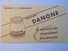 10C19 ANCIEN BUVARD PUBLICITAIRE PUB YOGHOURT DESSERT DANONE YAOURT