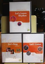 LET'S LEARN MUSIC interactive multimedia 3-CD set Rhythm Singing classical NEW