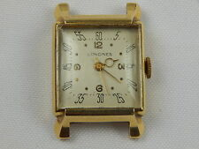 1946/47 VINTAGE 14K GOLD MEN'S LONGINES WATCH NICE LUGS NICE DIAL 24 GRAMS