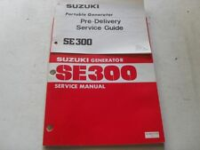 USED GENUINE SUZUKI 1981 SE300 GENERATOR & DELIVERY SERVICE MANUAL SR-4001-E-03