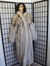 ! MINT PLAIN NORWEGIAN (BLUE) FOX FUR COAT JACKET WOMEN WOMAN SIZE 6-8 SMALL