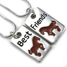 Horse Pony Mustang Best Friend Forever BFF Necklace Pendant Animal Lover Dog Tag