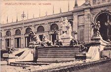 CPA BELGIQUE BELGIUM BRUXELLES exposition de 1910 le quadrige timbrée