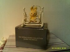 VTG AVON SPRING BUNNY COLLECTION ORNAMENT-BUNNY/CRADLE-NEW IN BOX-FREE SHIPPING
