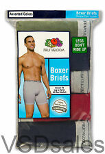 21 Blue Gray Green Red Fruit Of The Loom Boxer Brief Small S 28-30 Inch 71-76 CM