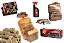 Kit completo 6 pz per camino stufa: accendifuoco+legna da ardere+ceppo+pulivetro