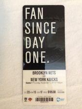 Brooklyn Nets Opening Night Ticket Stub 11/1/12