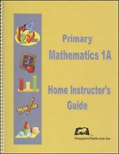 Singapore Primary Math Home Instructor Guide 1A US ED-FREE Expedited with $45