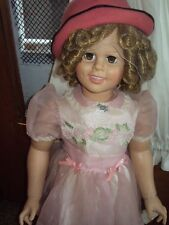 "SHIRLEY TEMPLE PLAYPAL STYLE DOLL-VINYL-33"" LIFE SIZE-DANBURY MINT WITH HAND TAG"