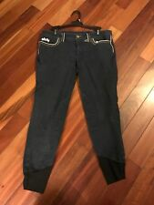 Equine Couture Jean Knee Patch Breeches  Size 32